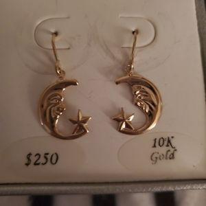 Macy's Jewelry - 10K Gold Moon Star Earrings
